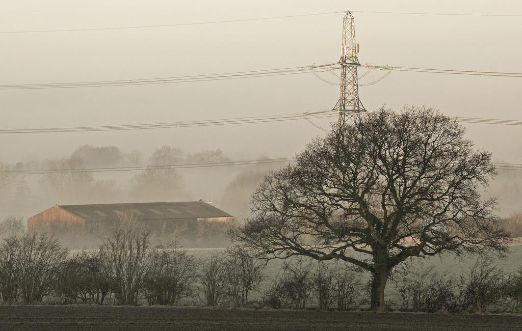 Barn in the mist by shepherdman