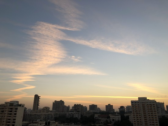 The artistic skies this morning  by veengupta
