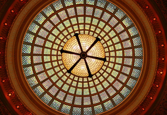 Tiffany Glass Dome by terryliv