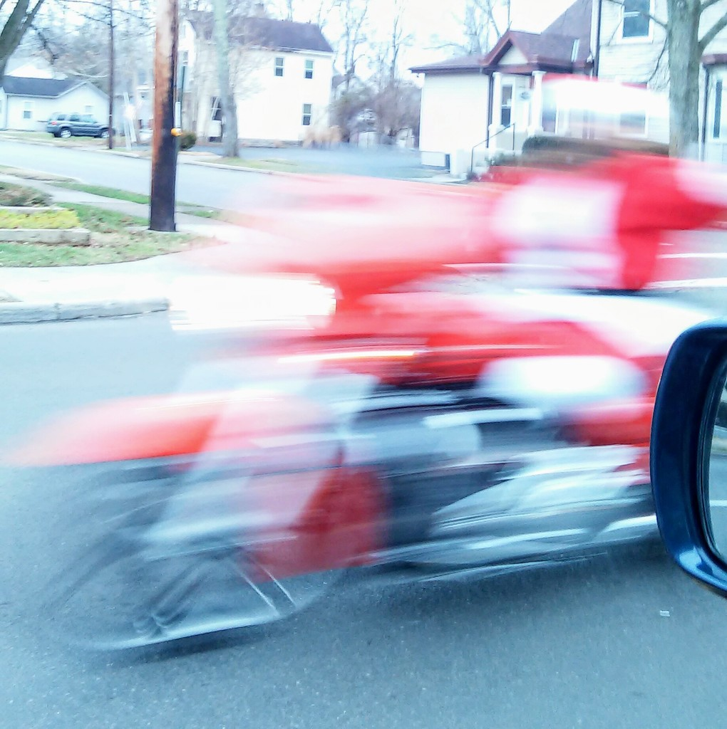 You Will Never Guess Who Zoomed Past Me Today by alophoto