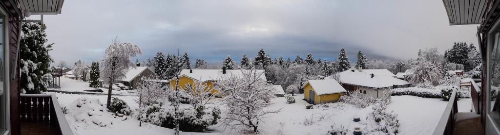 Christmas balcony panorama by laroque
