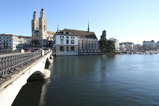 76 Grossmunster, Wasserkirche and Munsterbrucke - Zurich by travel