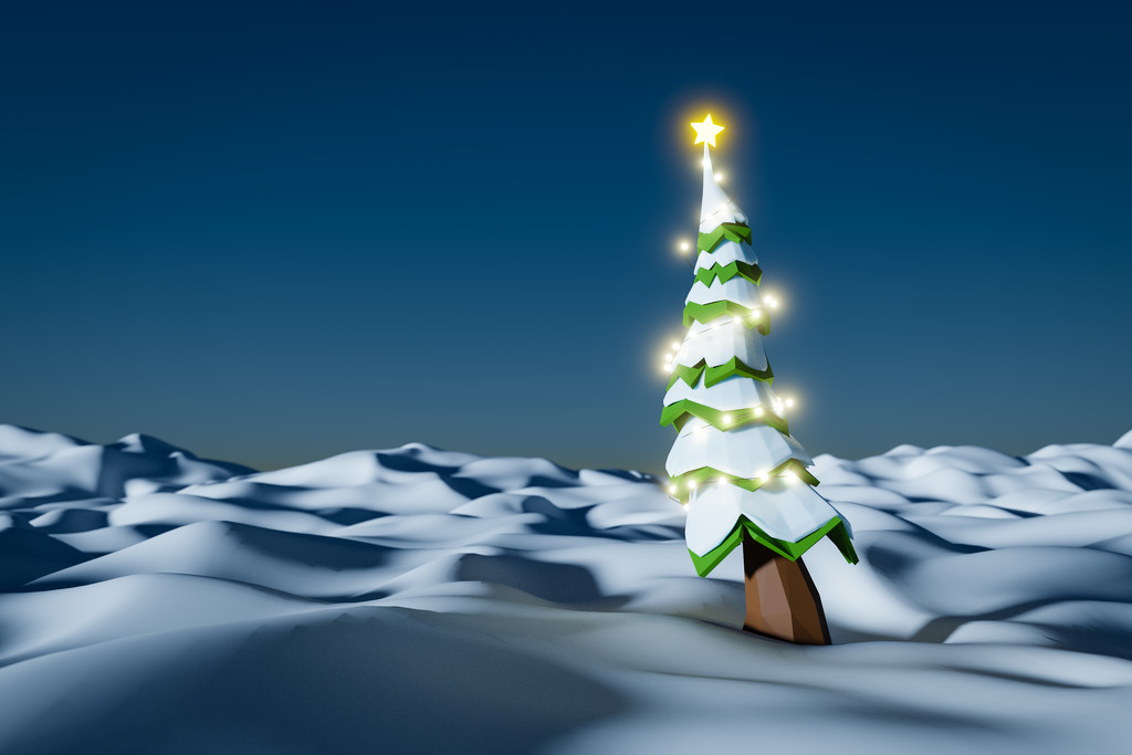 Low Poly Xmas Tree by humphreyhippo