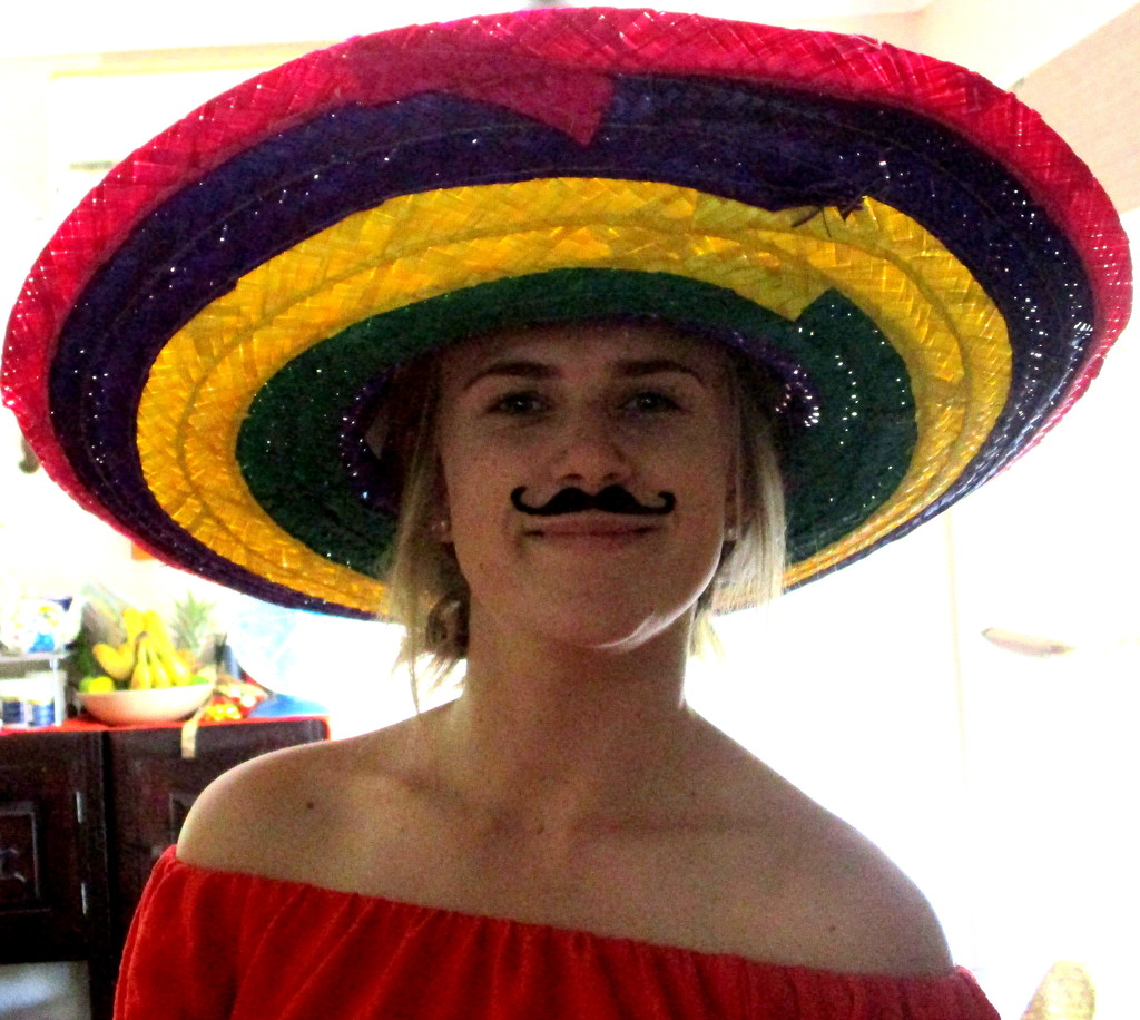 Grand-daughter Chelsea posing as Mexican,  Christmas day by 777margo