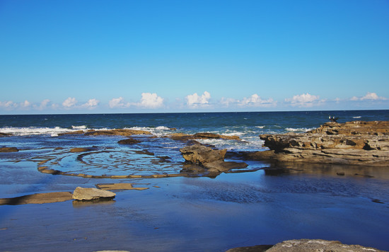 Rock pools by corymbia