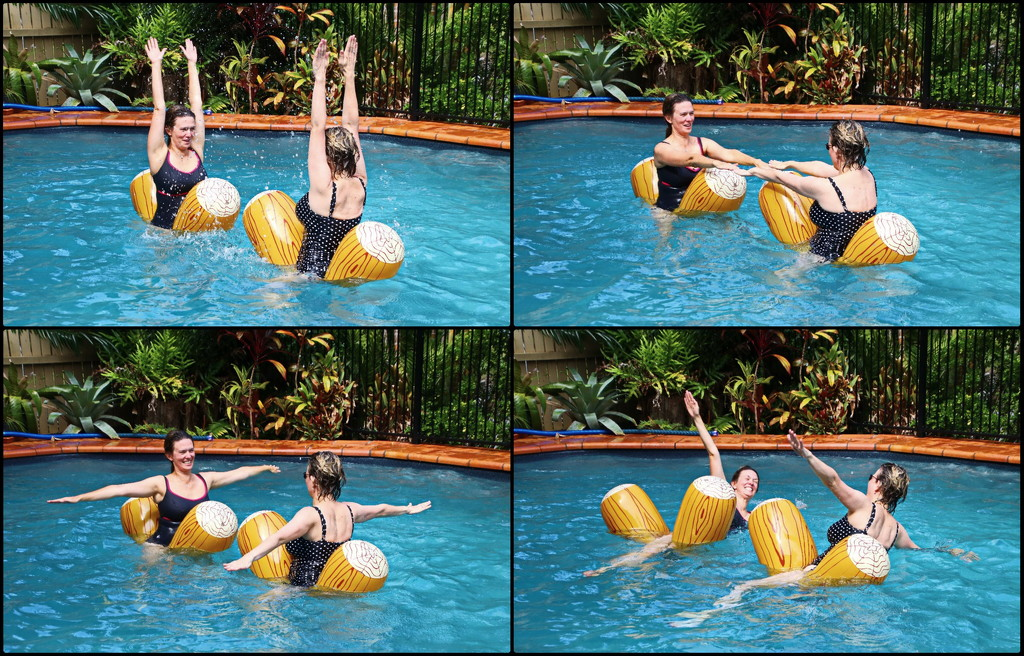Australia's Synchronised Inflatable Log Team in Training by terryliv