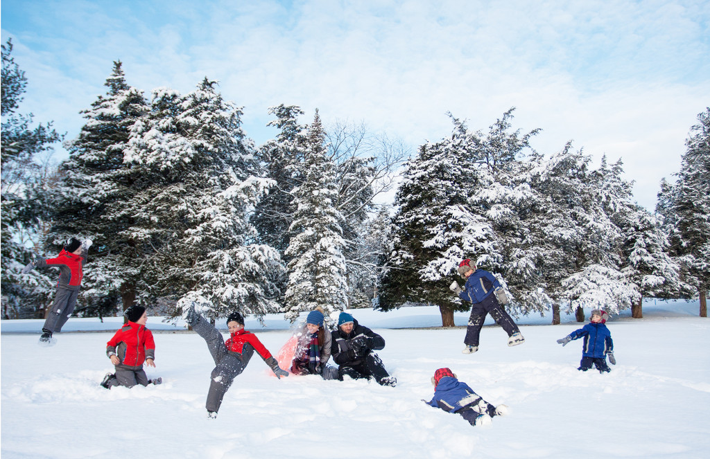 Epic Snowball Fight by egad