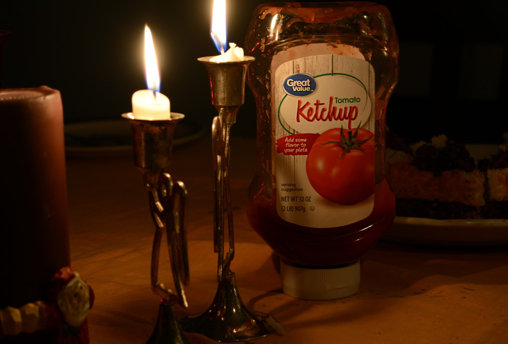 Ketchup and Candles by francoise