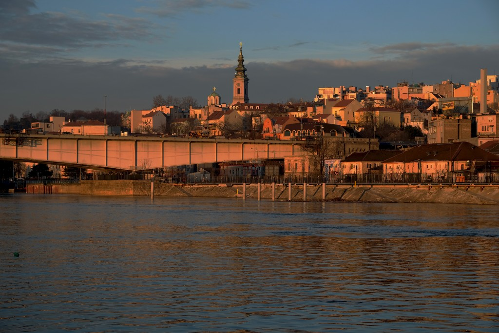 Belgrade from the water by maggiemae