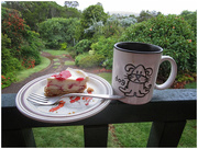 1st Jan 2018 - Tea & Cheese cake in the Summer rain