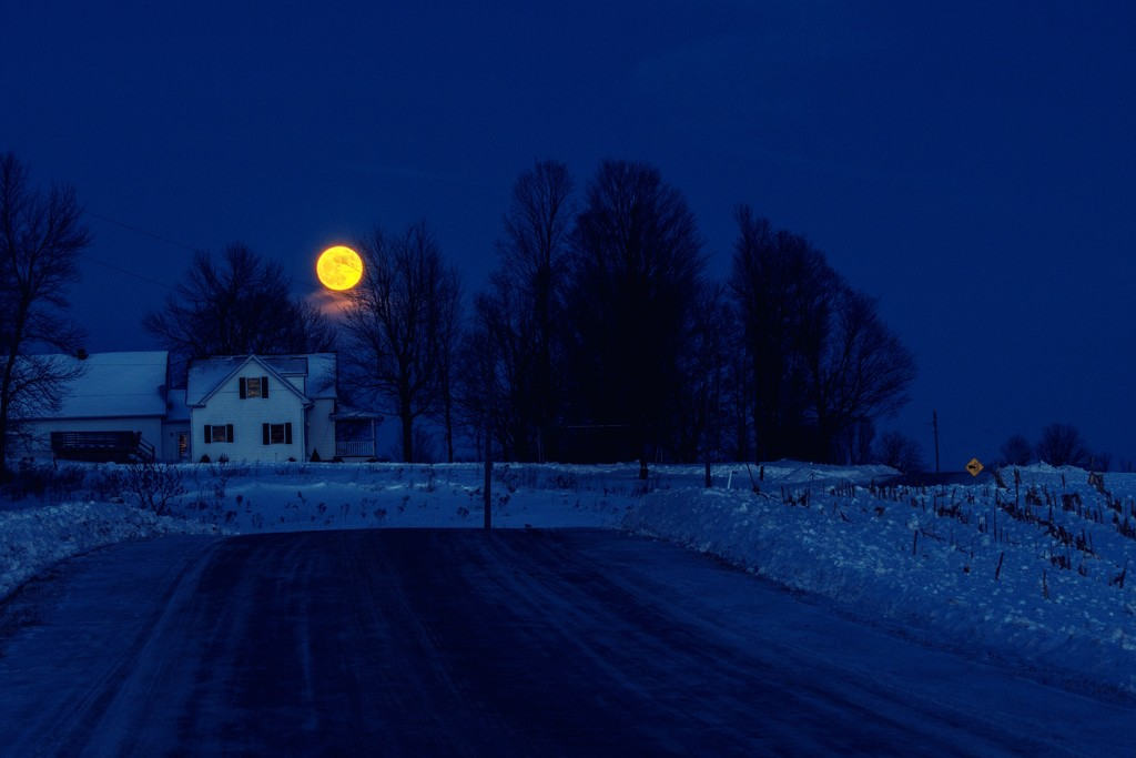Full Wolf Moon by farmreporter