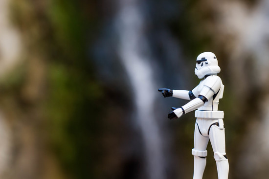 Storm Trooper Finds a Waterfall in Eaton Canyon by jyokota