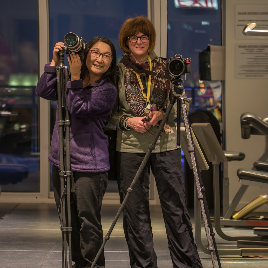 Photographers in the Workout Room by taffy