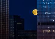 1st Jan 2018 - City Moon, Peeking Out