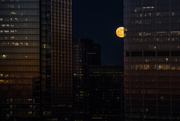 2nd Jan 2018 - Super Moon Joins the Skyscrapers
