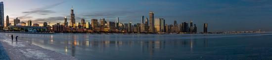 Chicago Skyline Panorama by jyokota