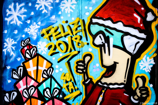 Santa on Graffiti by jborrases