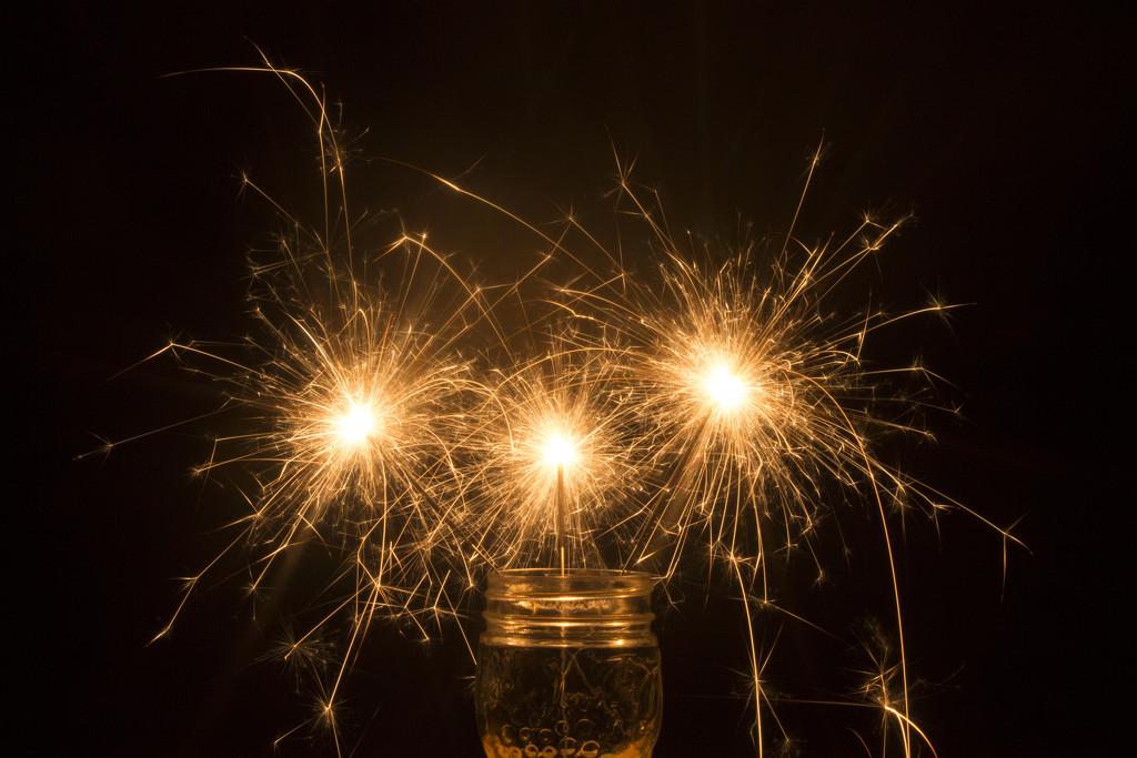 Mason Jar Sparklers by gaylewood