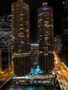 4th Jan 2018 - Marina City with Holiday Lights