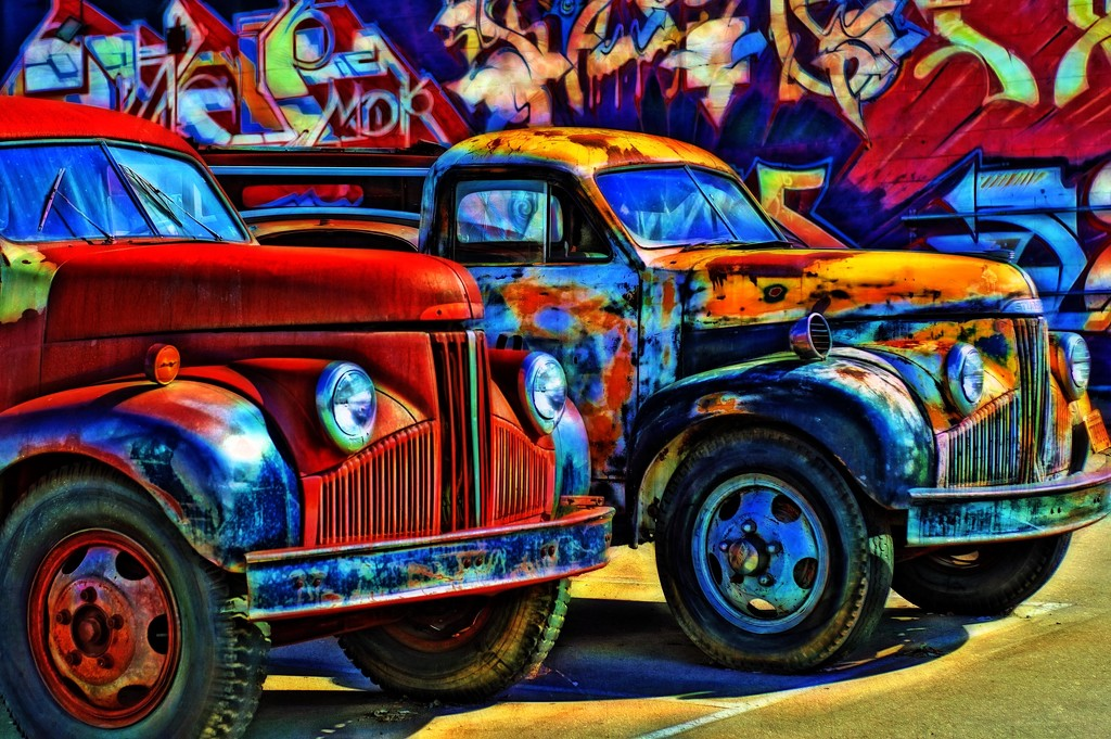 Rusted trucks  by joysfocus