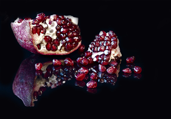 Pomegranate Reflected by jgpittenger
