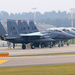Lakenheath four returned F-15's, one with painted air brake