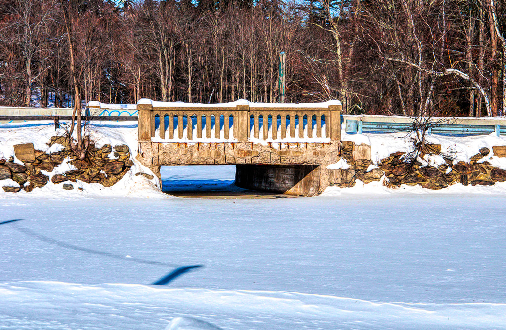 Snowy bridge by joansmor