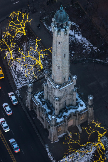 Water Tower from Above by taffy