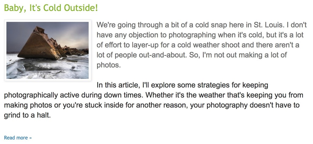 """Blog Post """"Baby, It's Cold Outside!"""" by jae_at_wits_end"""