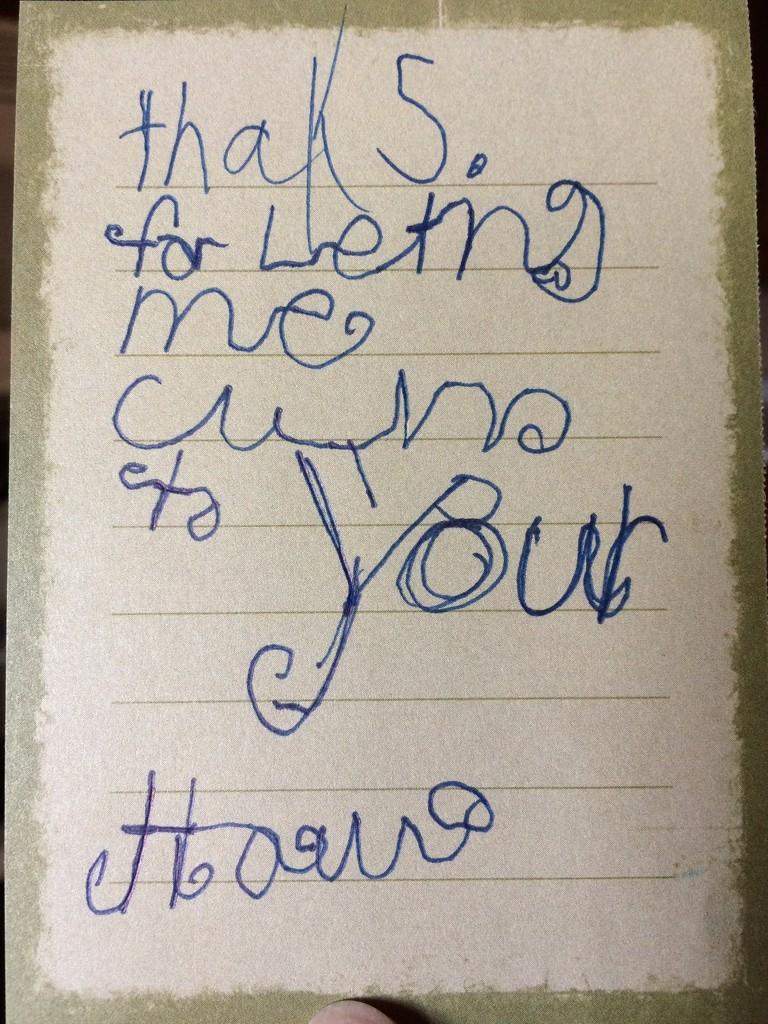 Thank-you Note by bjchipman