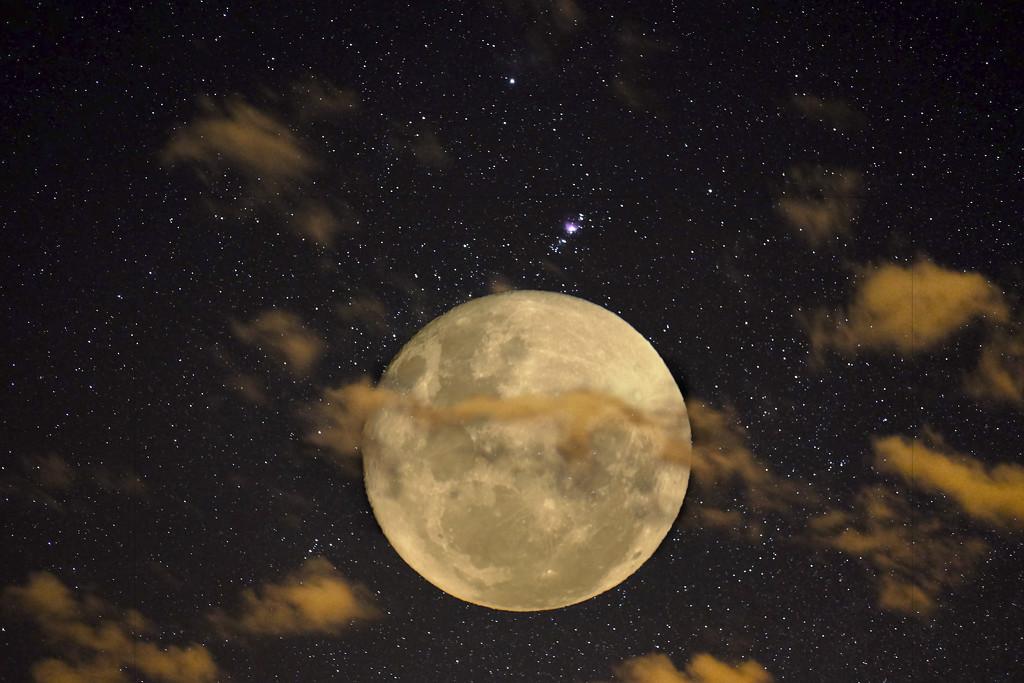 Composite moon by dkbarnett