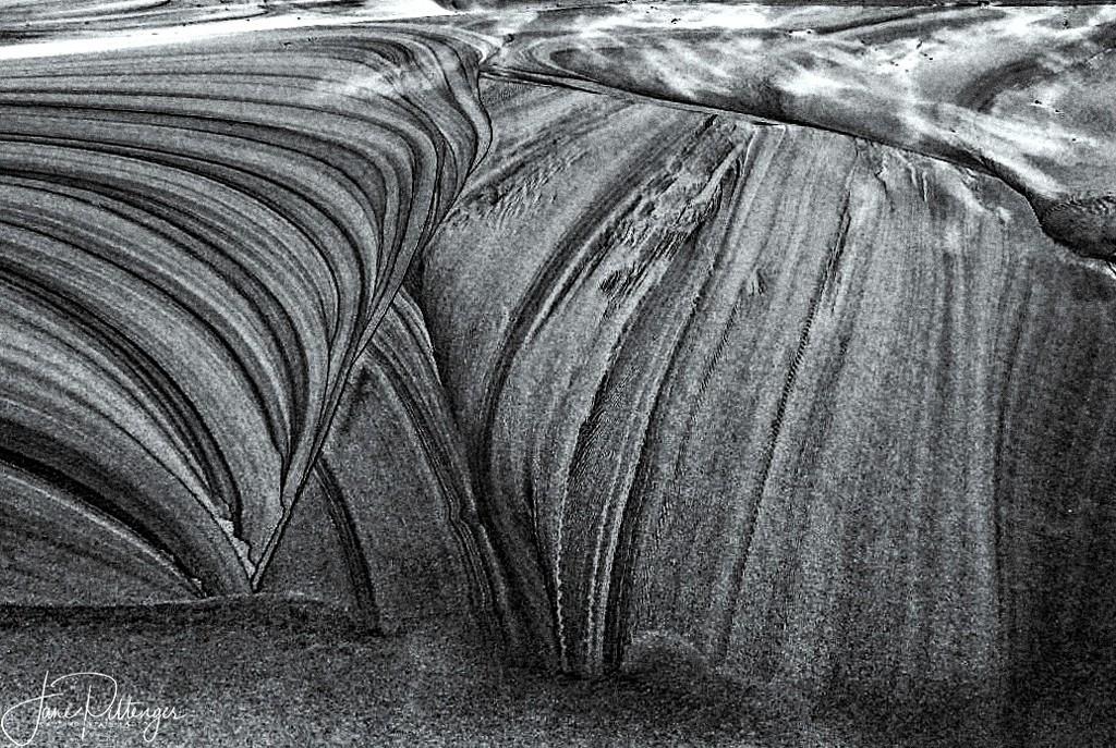 Sand Dune Patterns B and W by jgpittenger