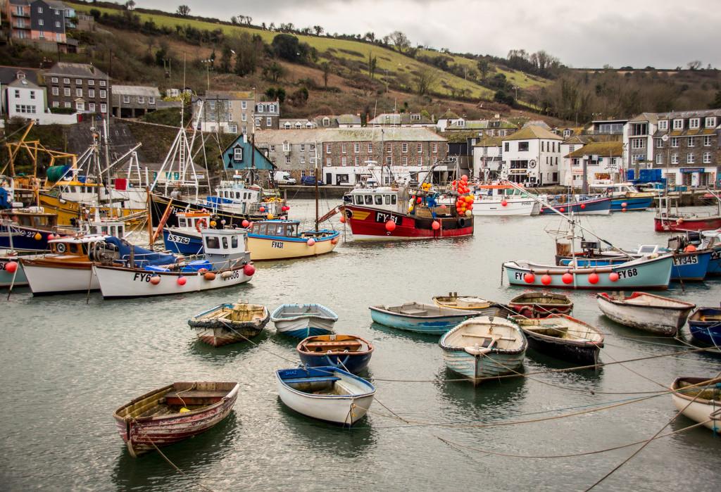Mevagissey Inner harbour. by swillinbillyflynn