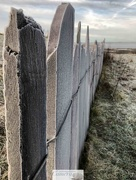 13th Jan 2018 - Frosty slate fence