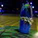 Graffiti spray and a flower