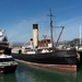 Diamond Harbour ferry, steam tug Lyttelton, and merchant ship Madeira