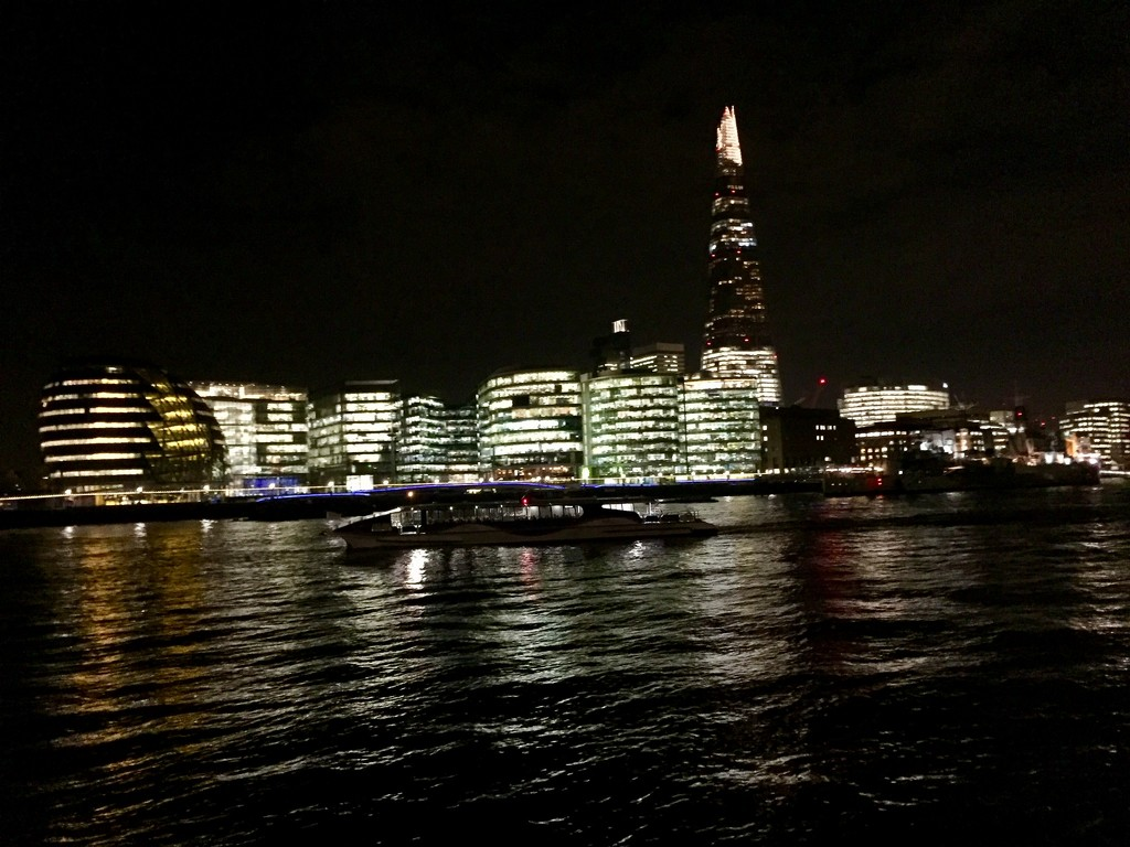 River Thames at Night by gillian1912