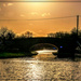 Silhouetted Canal Bridge,Gayton (best viewed on black)