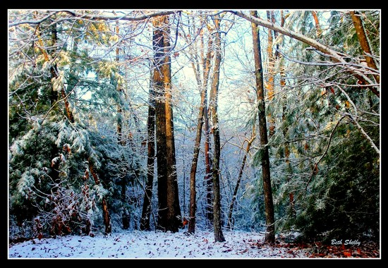 A Little Snow Makes a Big Difference by vernabeth