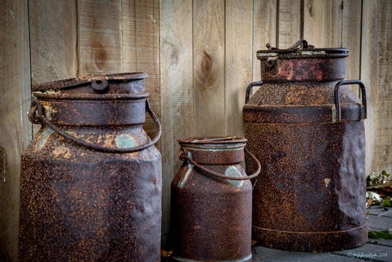 Three Rusty Churns by yorkshirekiwi