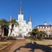 Andrew Jackson Shadow Riding to St Louis Cathedral