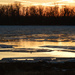Sunset and Ice, Illinois River