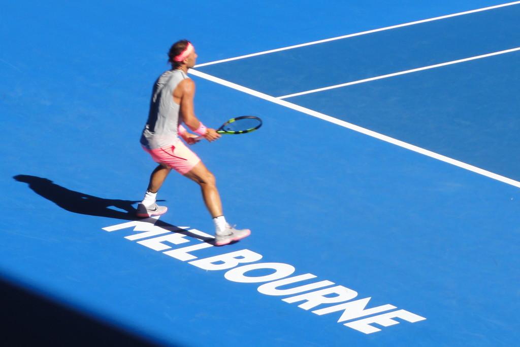 Watching Raffa at the Australian Open by gilbertwood