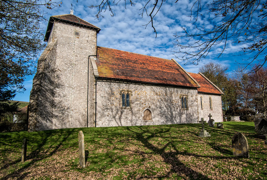 Pyecombe church, on the South Downs, Sussex by ivan