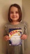 21st Jan 2018 - Freya got Star of the Week!