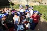 26th Jan 2018 - Australia Day brolly-hats at Loch Ard Gorge
