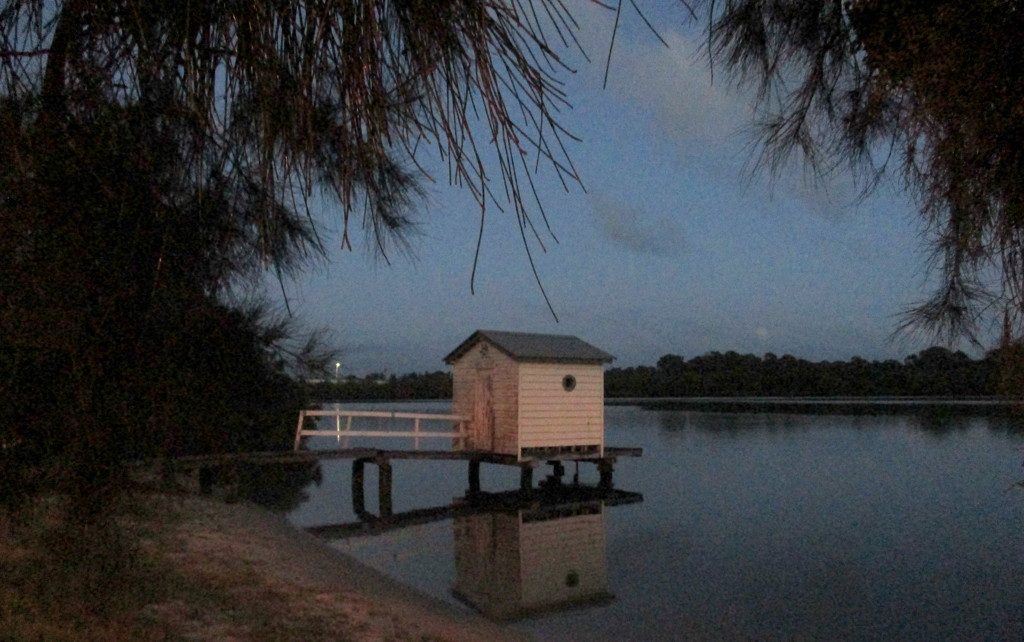 View along the Maroochy River pre-dawn  Friday by 777margo