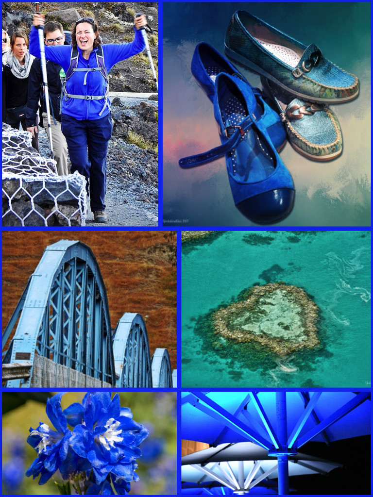Blue Collage by yorkshirekiwi