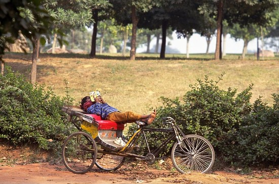 88 Rickshaw Rider Relaxing by travel