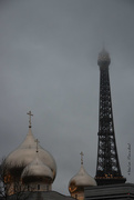 31st Jan 2018 - orthodox church & eiffel tower